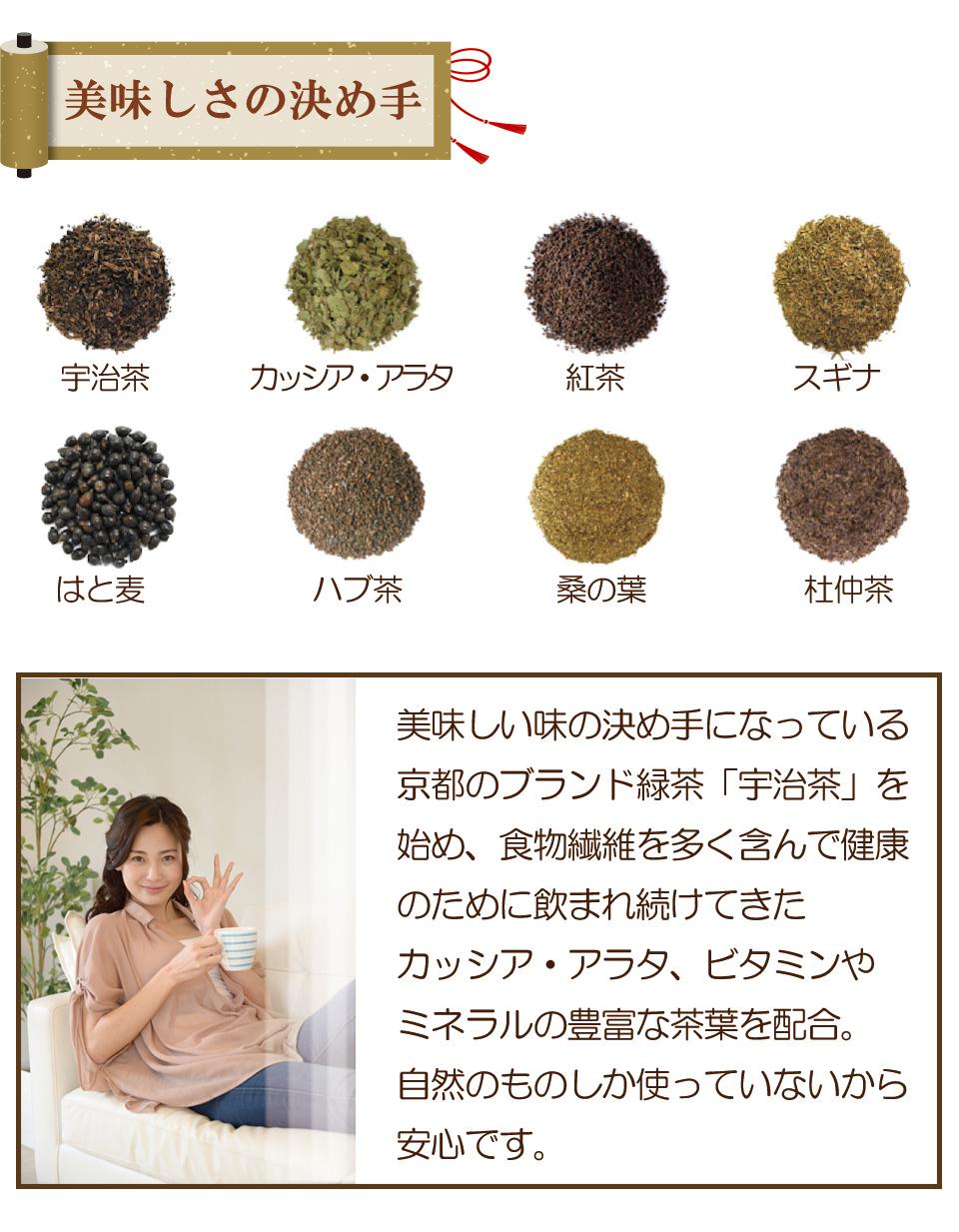 食物繊維を含むお茶 ビタミン ミネラル豊富なお茶 京の焙じ茶 便秘 宿便 つまり解消に