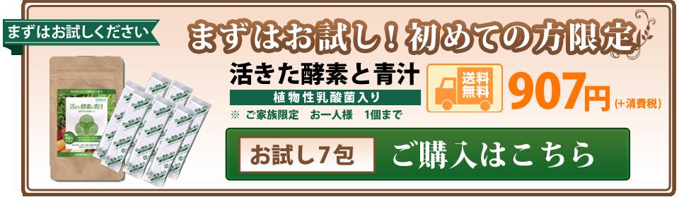 活きた酵素と青汁 まずはお試し購入907円