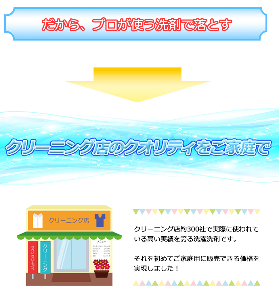 洗濯プロのクリーニング店が使用する泥汚れ専用洗剤はホームラン洗剤。ユニフォーム、作業着の洗濯をスッキリプロの仕上がりで主婦に人気