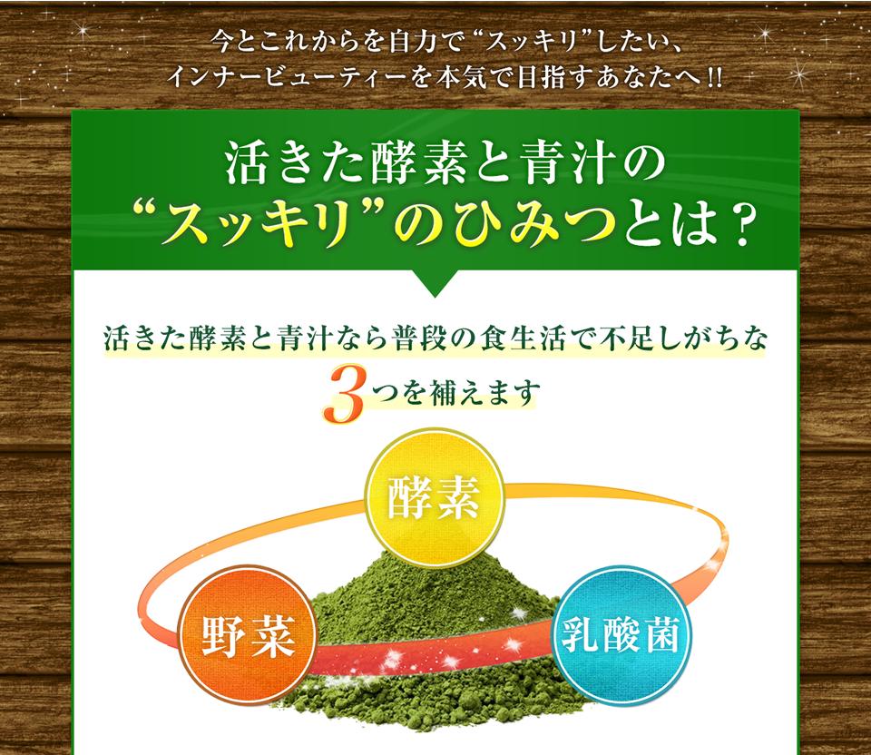 酵素、青汁、植物性乳酸菌、桑の葉で糖ブロック